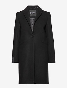 ARIANA WOOL COAT - wool coats - black
