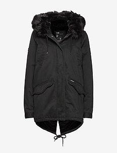 FALCON ROOKIE PARKA - parka coats - military black