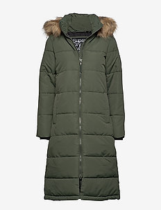 LONGLINE QUILTED EVEREST JACKET - THYME