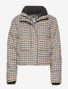 QUAKE PUFFA - padded jackets - yellow check