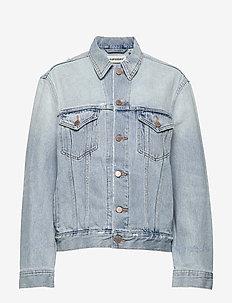 BOYFRIEND TRUCKER JACKET - jeansjackor - light indigo vintage