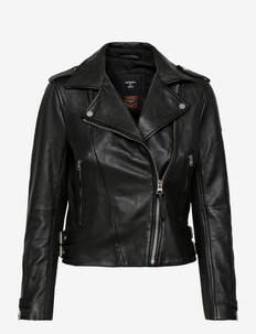 CLASSIC LEATHER BIKER - læderjakker - black
