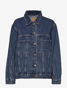 50_50 Trucker Jacket - spijkerjassen - mid indigo vintage