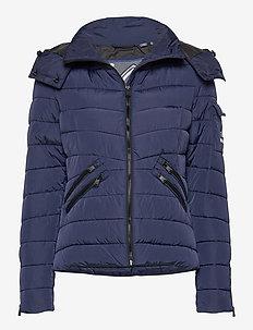 Luxe Quilt Padded Jacket - doudounes - nu navy