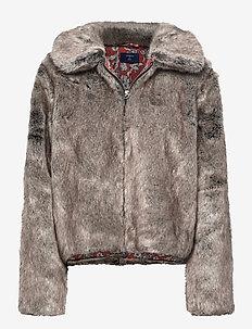 Boho Faux Fur Jacket - fausse fourrure - mink