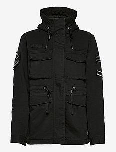 BLING RELAXED ROOKIE PARKA - parka coats - black