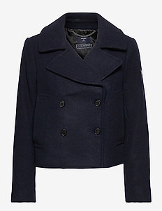 Wool Crop Peacoat - uldjakker - eclipse navy