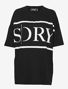 EDIT OVERSIZED TEE - MANOR HOUSE BLACK