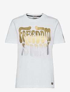 MILITARY NARRATIVE TEE - t-shirts - brilliant white