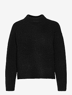 SUPER LUX RIBBED CREW - jumpers - black