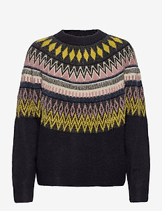 Maggi Farisle Jumper - trøjer - dark navy mix