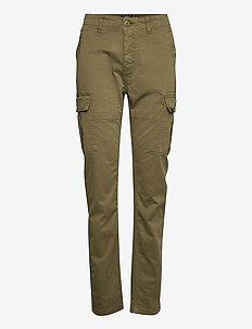Slim Cargo Pant - slim fit trousers - tuscan olive