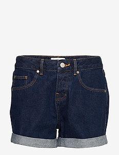 STEPH BOYFRIEND SHORT - korte jeansbroeken - denim indigo rinse
