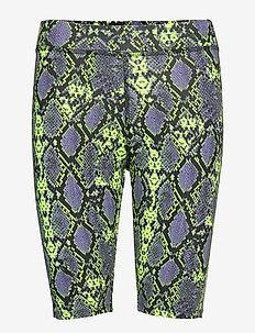 DESERT BIKE SHORT - cycling shorts - neon snake print