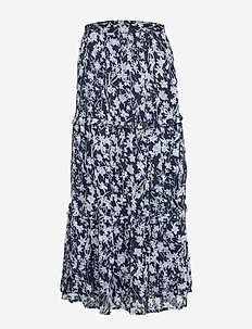 MARGAUX MAXI SKIRT - NAVY FLORAL