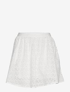 BLAIR BRODERIE SKIRT - korta kjolar - chalk white