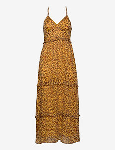 MARGAUX MAXI DRESS - evening dresses - autumn ditsy gold