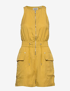 NEVADA HALTER PLAYSUIT - OIL YELLOW