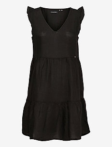 TINSLEY TIERED DRESS - party dresses - black