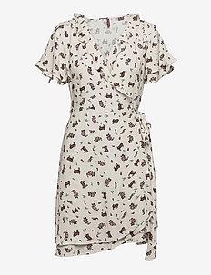 Summer Wrap Dress - everyday dresses - cream paisley