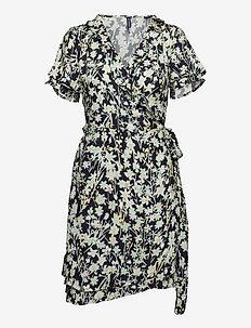 Summer Wrap Dress - everyday dresses - daisy navy