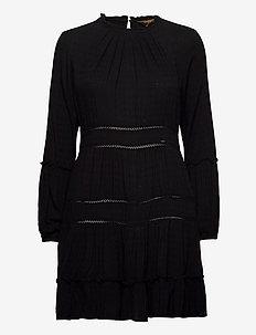 Richelle Ls Dress - midi kjoler - black