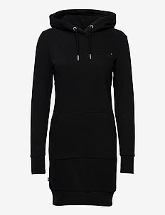 Orange Label Sweat Dress - midimekot - black