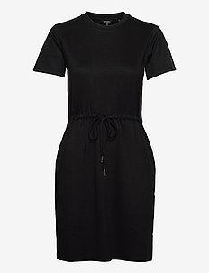 DRAWSTRING TSHIRT DRESS - summer dresses - black