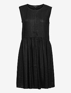 TEXTURED DAY DRESS - summer dresses - black