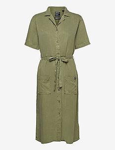 TENCEL SHIRT DRESS - midi dresses - lieutenant olive