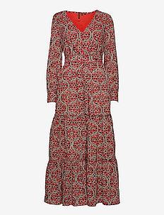 BOHEMIAN MAXI DRESS - everyday dresses - red print