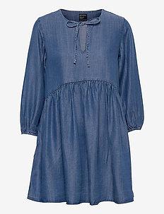 LS TENCEL DRESS - robes de jour - mid wash