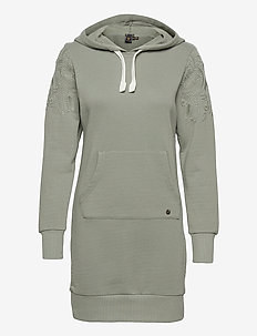 BOHEMIAN SWEAT DRESS HOOD - t-shirtkjoler - sunken sage