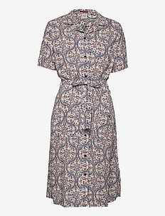 PRINTED SHIRTDRESS - summer dresses - cream print