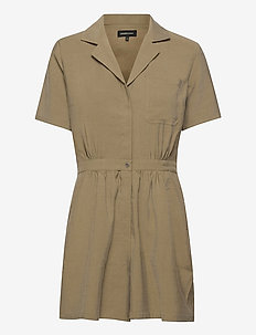 WIDE LEG PLAYSUIT - jumpsuits - moss khaki