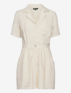WIDE LEG PLAYSUIT - jumpsuits - oyster