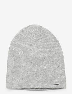 JAYDEN RIB BEANIE - luer - mid grey marl