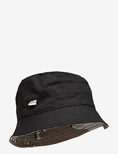 REVERSIBLE BUCKET HAT - BLACK CAMO