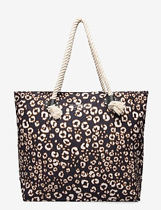 PRINTED ROPE TOTE - fashion shoppers - leopard print