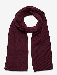 HERITAGE RIBBED SCARF - scarves - burgundy marl