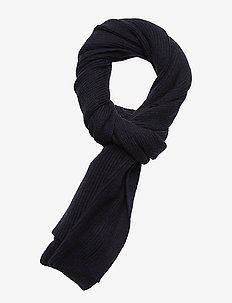 HERITAGE RIBBED SCARF - ECLIPSE NAVY