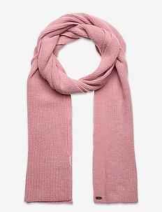 HERITAGE RIBBED SCARF - scarves - rose marl