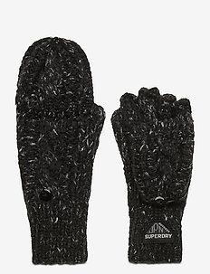 Gracie Cable Glove - gants - black tweed