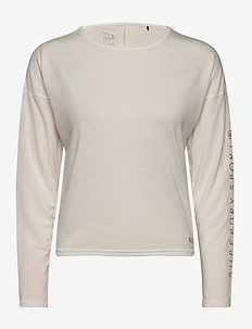 STUDIO L/S TOP - long-sleeved tops - off white