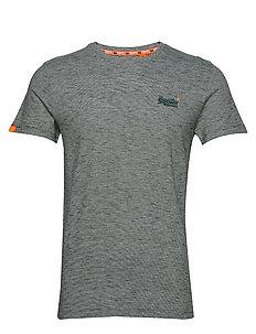 Superdry SHOP TRI TEE - T-shirt med print - classic blue feeder