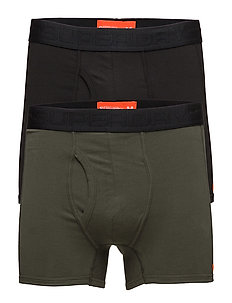 SPORT BOXER DOUBLE PACK - BLACK/KHAKI