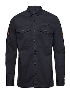 CORE MILITARY PATCHED L/S SHIRT - MIDNIGHT NAVY