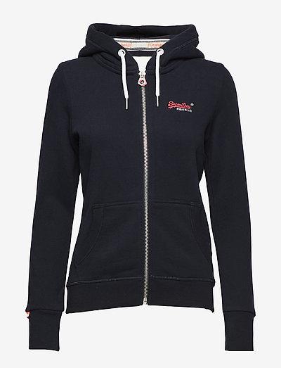 ORANGE LABEL ZIPHOOD - hoodies - eclipse navy