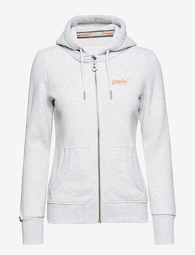ORANGE LABEL ZIPHOOD - hoodies - ice marl