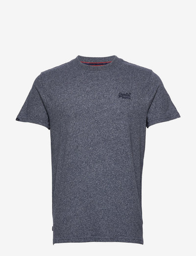 Vintage Logo Emb Tee - basic t-shirts - frosted navy grit